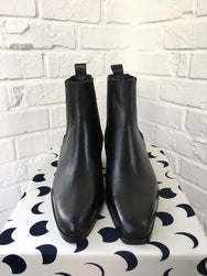 Unbalanced Ankle Boots(Black)