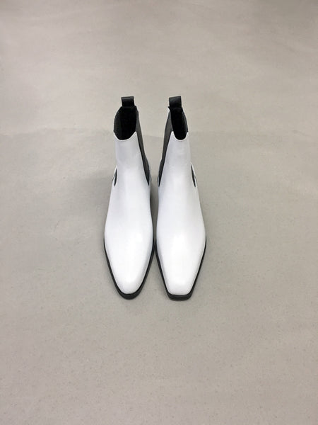 Unbalanced Ankle Boots(White)