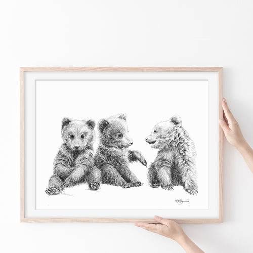 Nursery wall art - Nursery animal prints - chambre bebe fille