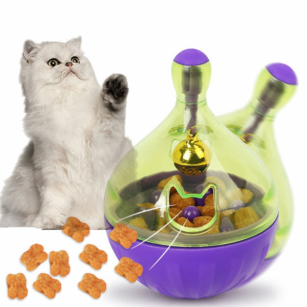FunBall Educative avec Ecoulement Croquette pour Chat - Global Store