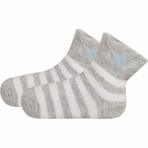 SOXESSORY 2019 $8.99 Baby Blue White Stripes Mercerized Cotton Socks