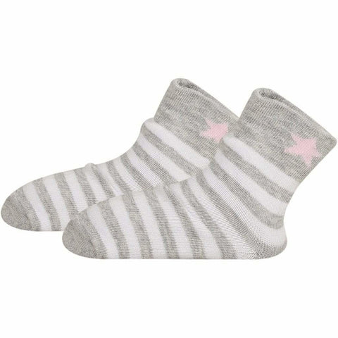 SOXESSORY 2019 $8.99 Baby Girl Pink Socks With White Stripes Turkish