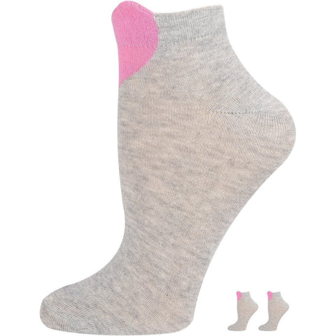 SOXESSORY 2019 $8.99 Girls Socks White Color with Heart Print in Front