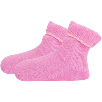 Infant White Socks - Cute Baby Pink Color, Soft and Breathable, Seamless Mercerized Cotton Baby Socks