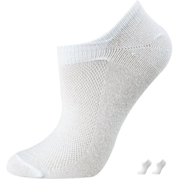 Low Cut Women's Mercerized Cotton Socks, Invisible, No Show, Sport Socks, White Color
