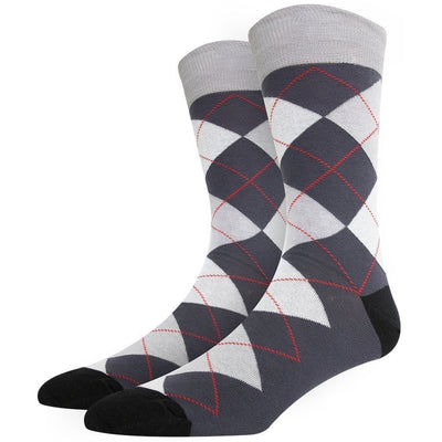 SOXESSORY 2018 $12.99 Mens Argyle Socks Mercerized Cotton Comfortable