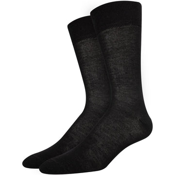 Men's Black Bamboo Business Socks, Great for Any Occasion, Super Breathable, Seamless, Soft, Comfortable, Easy To Wash and Anti Bacterial