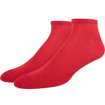 Men's Red - Ferrari Color Seamless Socks, Turkish Mercerized Cotton, Super Soft, Comfortable, Anti Bacterial, Hand Linked Toes and Durable