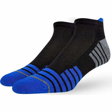 Men's Sports Socks, Great For Running, Super Soft and Absorbing Turkish Mercerized Cotton, Easy To Wash, Long Lasting, Hand Linked Toes and Seamless