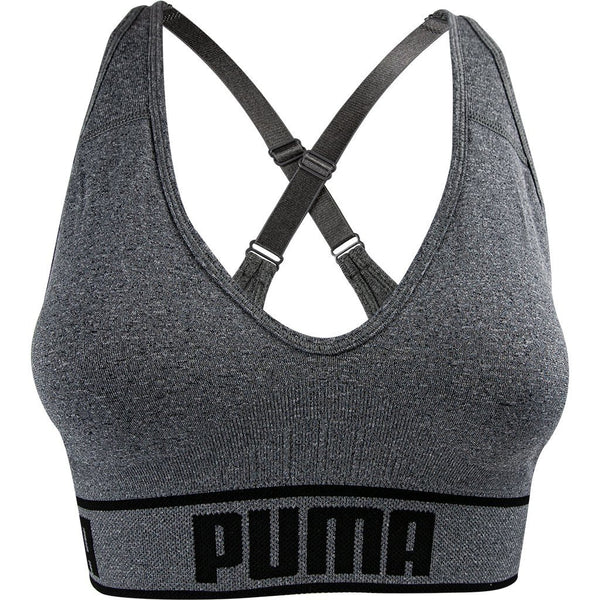 PUMA 2019 $14.99 Puma Womens Seamless Sports Bra Grey Removable Cups