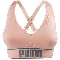 PUMA 2019 $24.99 Puma Womens Seamless Sports Bra Black Removable Cups