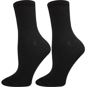 Women Crew Socks, Mercerized Cotton from Turkey, Durable, Easy To Wash, Soft, Anti Bacterial Hand Linked and Seamless