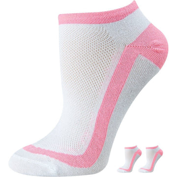 Women's Comfortable, Low Cut, Mercerized Cotton Socks, White and Emerald Stripes Color, Easy To Wash, Moisture Wicking, Durable and Seamless