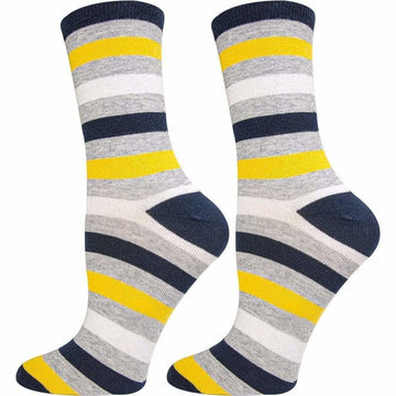 Women's Crew Length Socks, Mercerized Cotton, Moisture Wicking, Seamless, Easy To Wash and Breathable