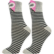 SOXESSORY 2018 $11.99 Womens Crew Socks Comfortable Stripes with Owl