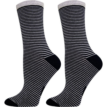 Women's Crew Socks, Great Colors and Addition to Any Dress, Mercerized Cotton, Super Comfortable, Moisture Wicking, Light Weight, Breathable and Seamless