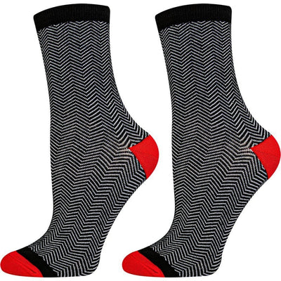 SOXESSORY 2018 $11.99 Womens Crew Socks That Stay Up Breathable