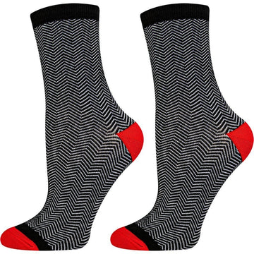 Women's Crew Socks That Stay Up, Breathable Mercerized Cotton, Light Weight, Moisture Wicking, Easy To Wash and Seamless