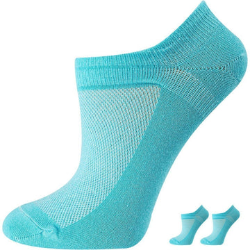 Women's Low Cut, Breathable, No Show, Invisible, Sports Socks, Mercerized Cotton, Black Color