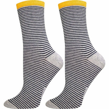 Women's Mercerized Cotton, Crew Size Socks, Moisture Wicking, Comfortable, Easy To Wash and Seamless
