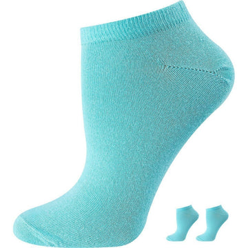 Women's Mercerized Cotton, Low Cut Socks, Blue De France Color, Easy To Wash, Light Weight, Quarter, Ankle Size, Seamless, Durable and Anti Bacterial