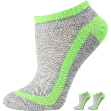 Women's Mercerized Cotton Sports Socks, Laurel and Emerald Stripes Color, Breathable, Moisture Wicking, Comfirtable, Easy To Was and Seamless