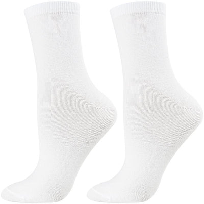 SOXESSORY 2019 $11.99 Womens White Color Socks Breathable Easy To Wash
