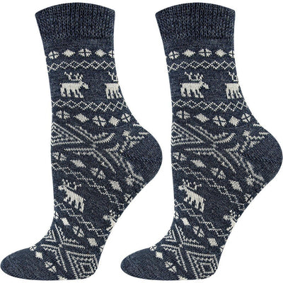 SOXESSORY 2019 $12.99 Wool Socks With Christmas Ornaments Prints Great