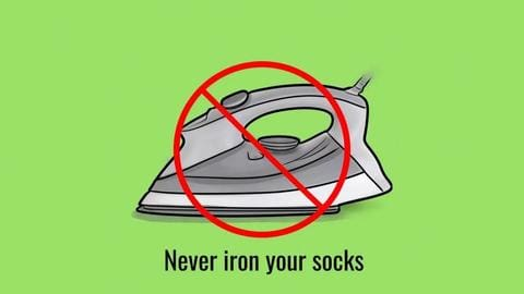 never iron your socks