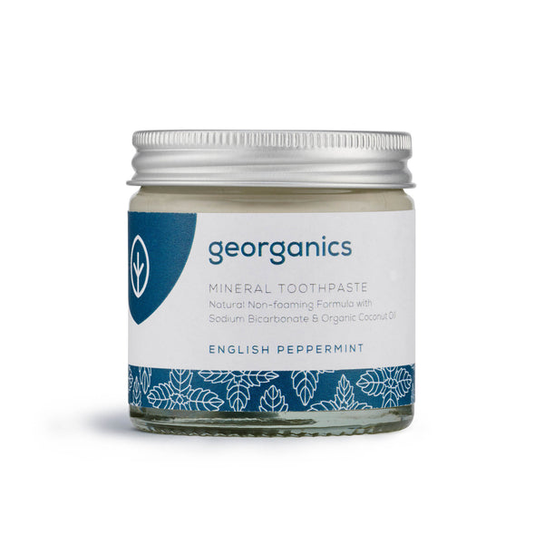 georganics english peppermint toothpaste