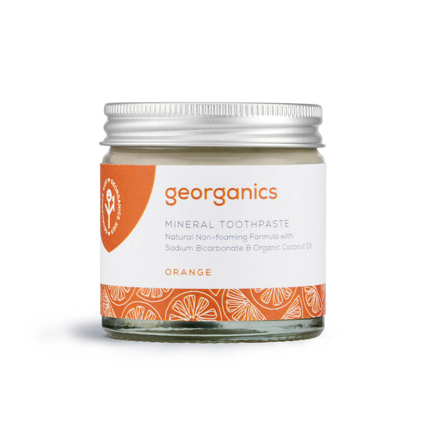 georganics orange toothpaste