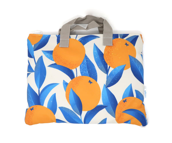 orange laptop bag