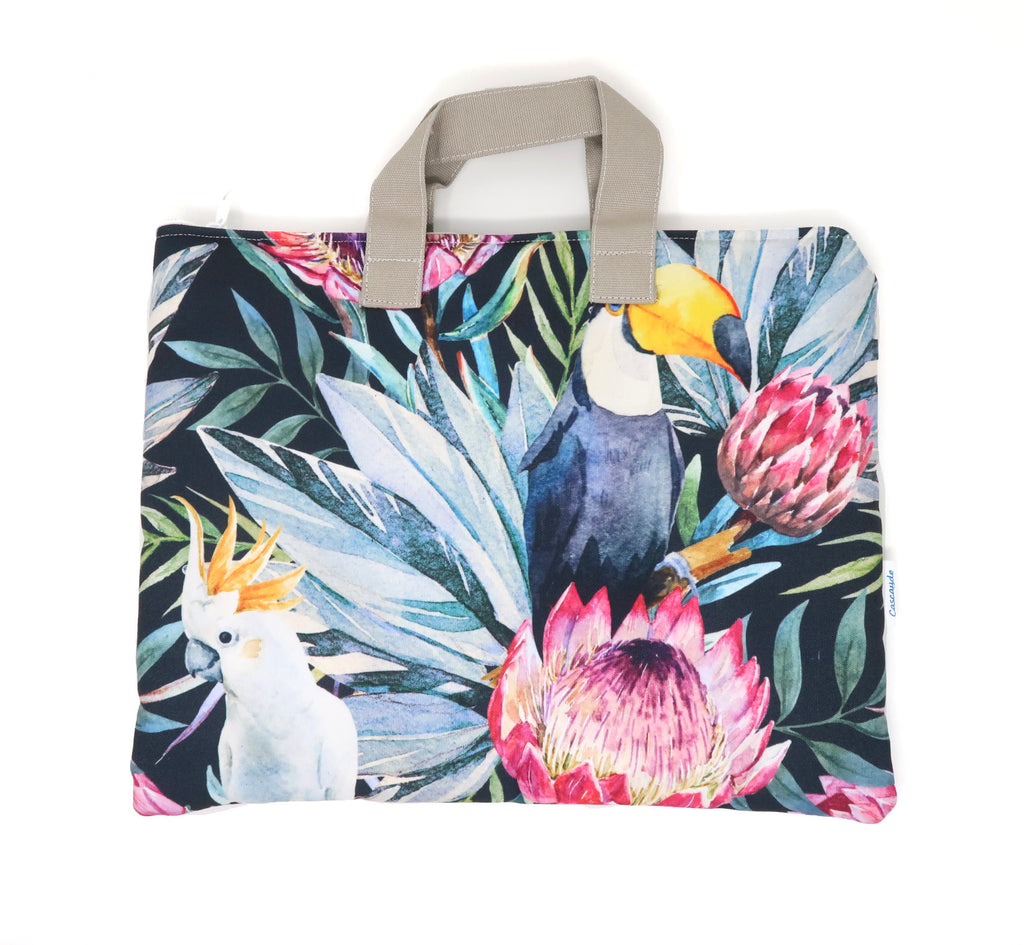 colourful print laptop bag