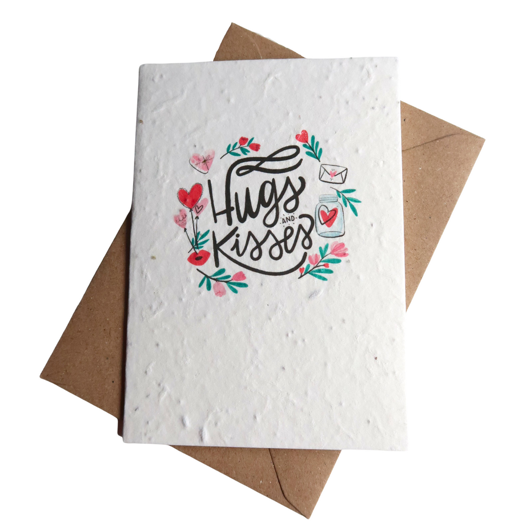Plantable Card Hugs & Kisses