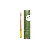 yellow childrens bamboo toothbrush