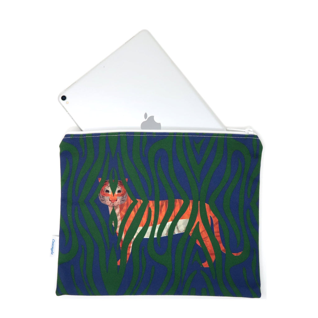 tiger print ipad sleeve