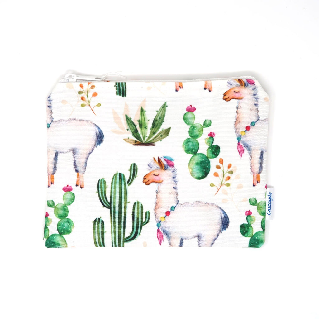 Llama Alpaca makeup bag. This waterproof bag is great for the beach, swimming or cosmetics