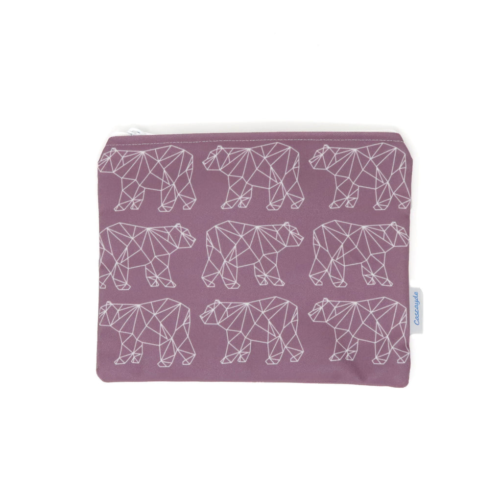 Bear Zip Bag - Jessica Cora Creative Geometric Collection