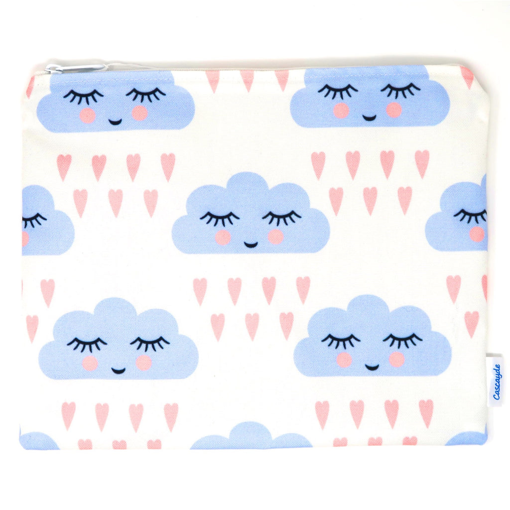 Large Cloud Zip Bag- Ipad Sleeve/Toiletry/ Baby Bag