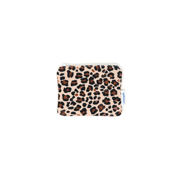 leopard print zip bag
