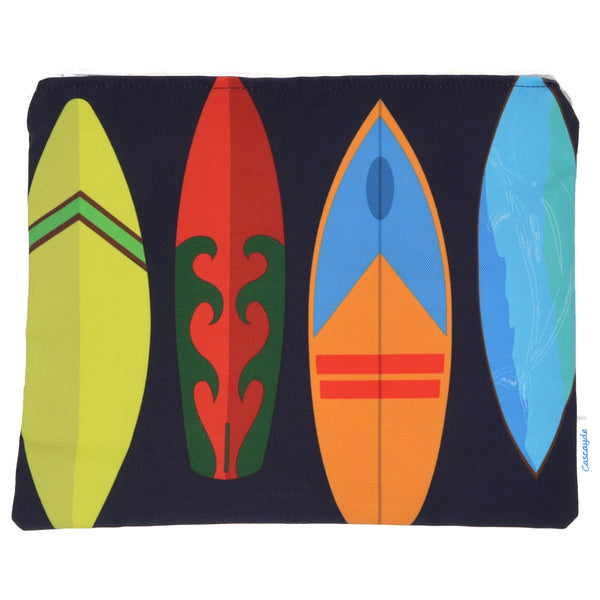Surfboards Zip Bag- Ipad Sleeve/Toiletry Bag