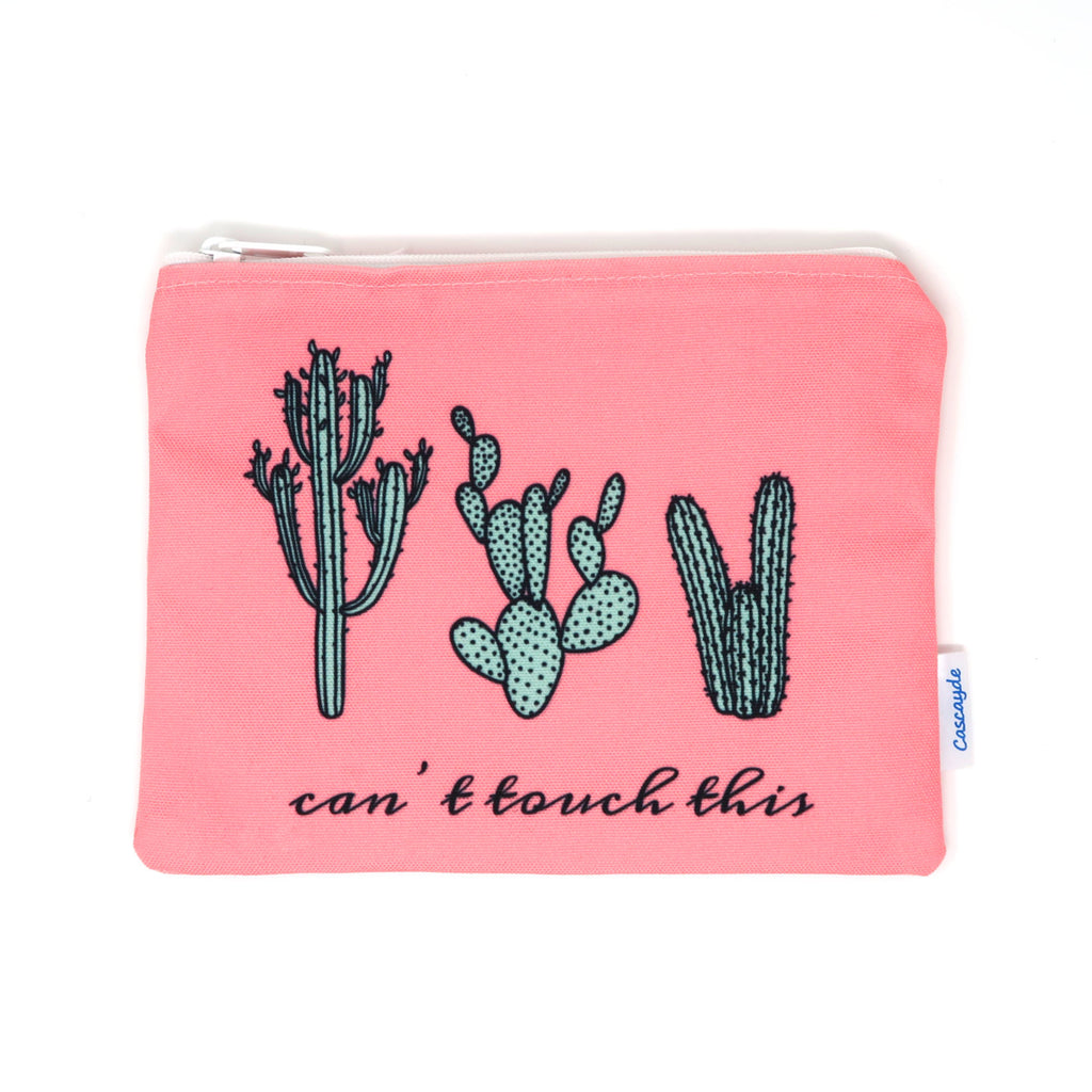Can't Touch This- Cactus Zip Bag
