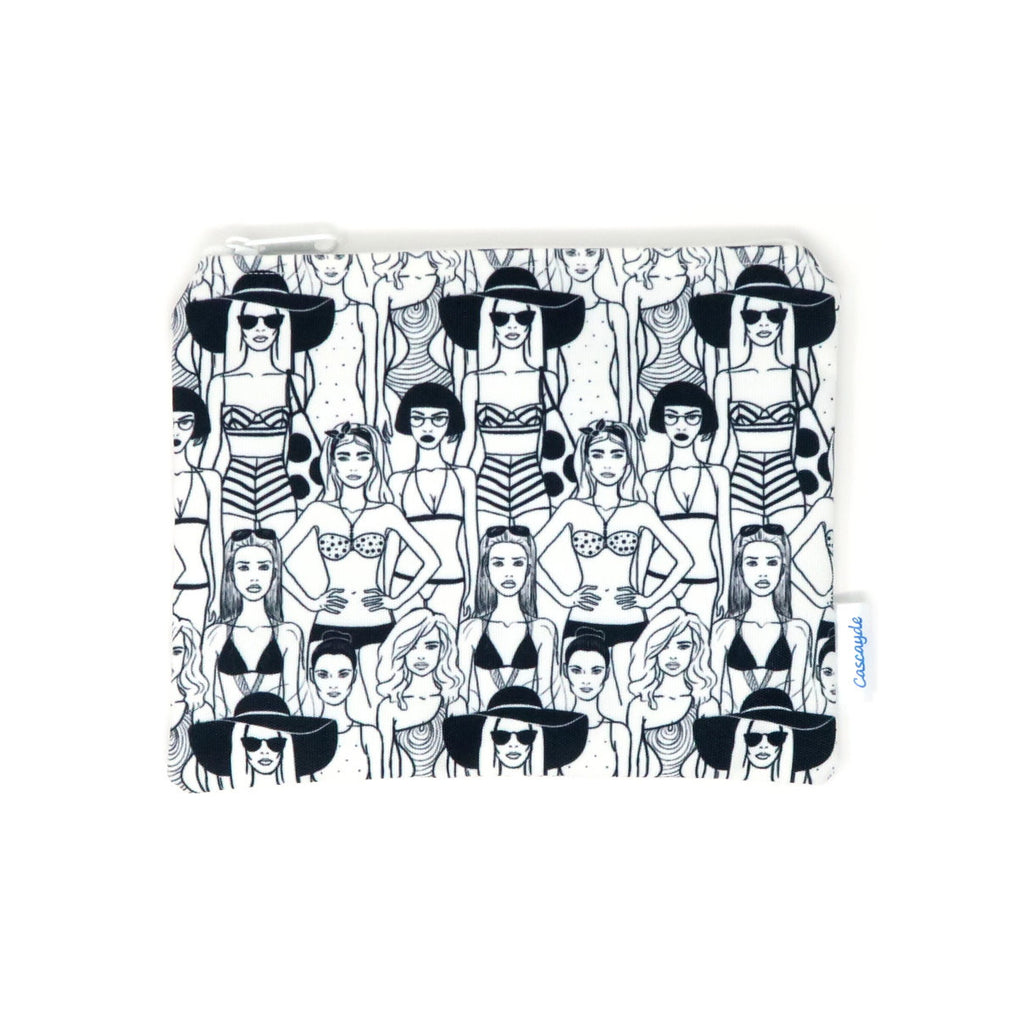black and white ladies make up bag