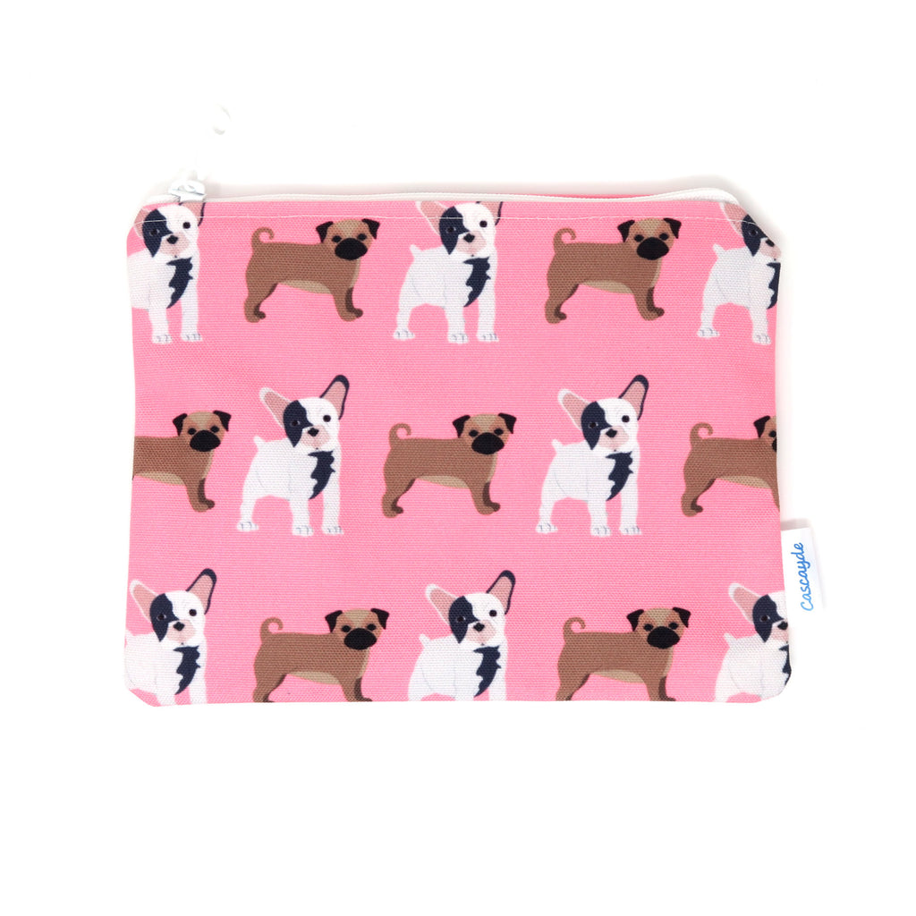 Pugs and French Bulldogs Zip Bag