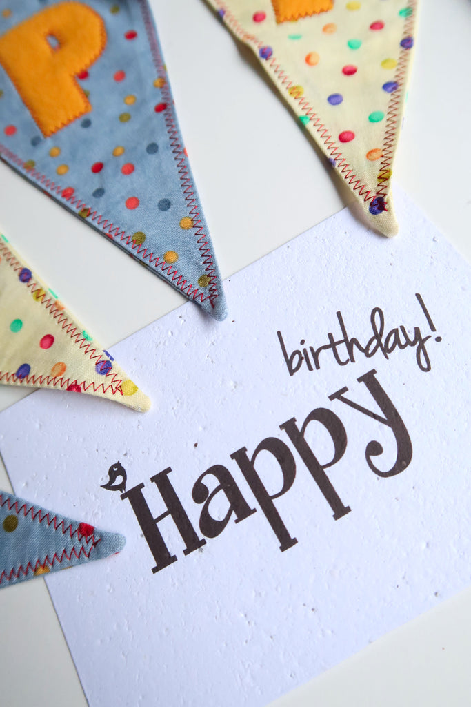 Plantable card happy birthday seeded paper