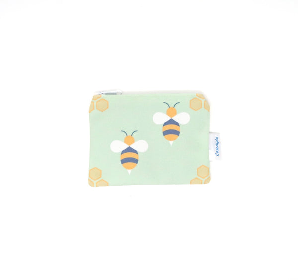 green bee design purse