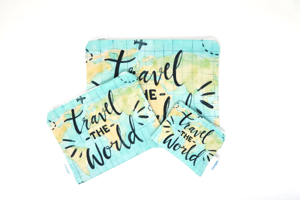 travel zip bag set