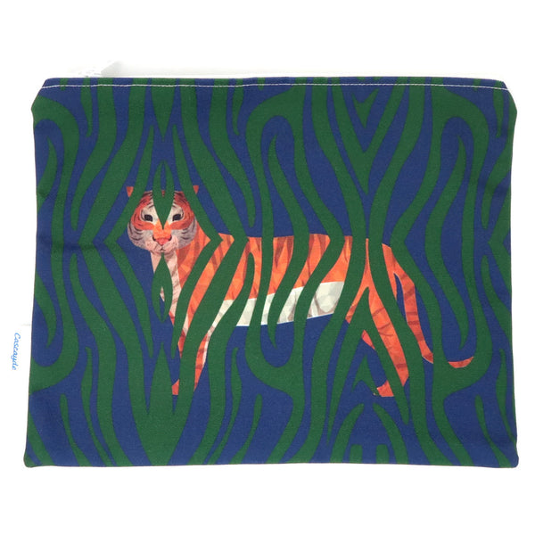 Large Jungle Tiger Bag- Ipad Sleeve/Toiletry/ Baby Bag