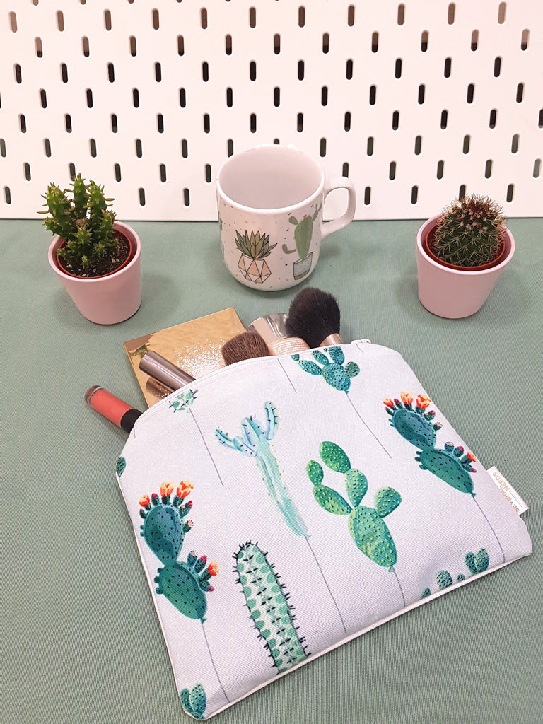 cactus design make up bag