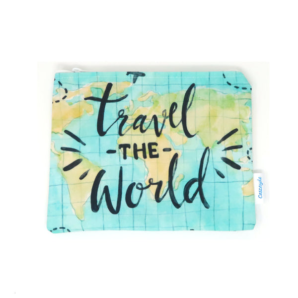 Travel the World Zip Bag